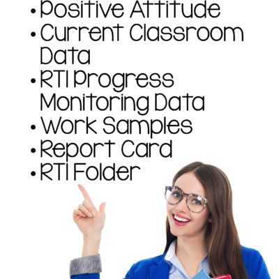 What to Bring to an RTI Meeting