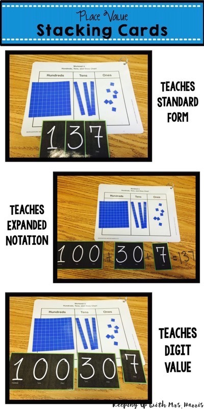 Place Value Stacking Cards