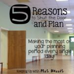 5 Reasons to Shut the Door and Plan