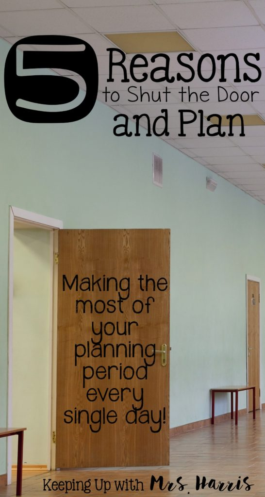 Teacher planning time is always too short. I have 5 tips to help you use your planning period for actually planning. These teacher time management tricks will work! I especially like #3. teacher time savers / teacher / planning