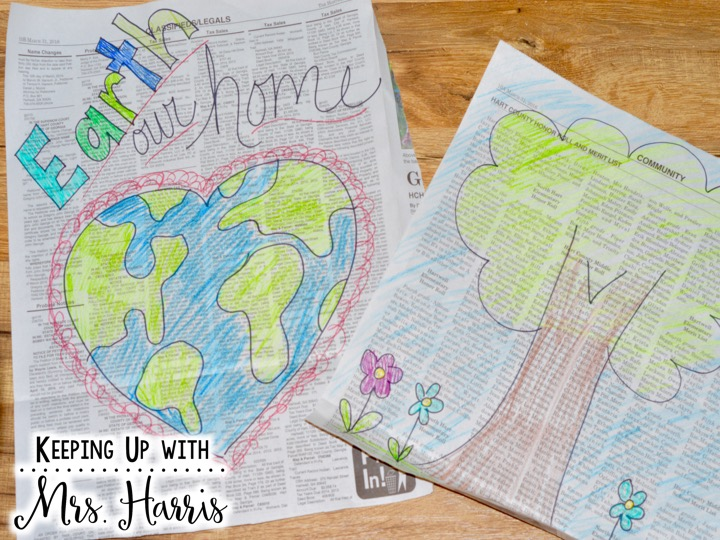Earth Day in the Classroom - 6 Ways to celebrate Earth Day - You will love #4!