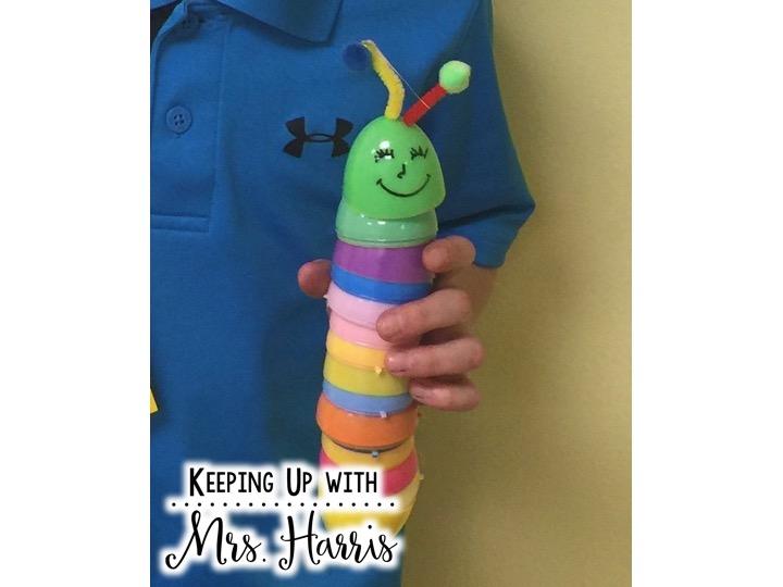 DIY Caterpillar Craft - Easter Egg Craft