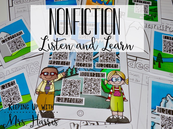 Nonfiction Listen and Learn - add nonfiction text to your centers through these fun and engaging book videos