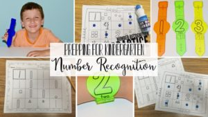 Prepping for Kindergarten - Number recognition practice/Learning Numbers