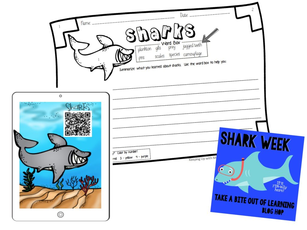 Shark Week - Listen and Learn: Freebie for teaching about sharks with this fun nonfiction listen and learn activity!