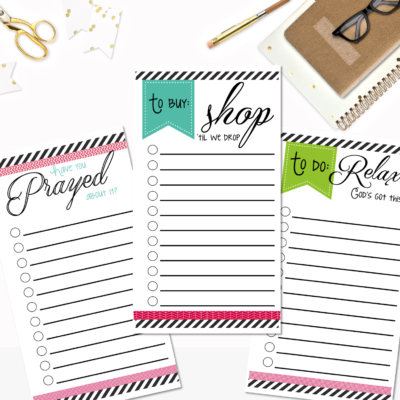 Get Organized with Checklists
