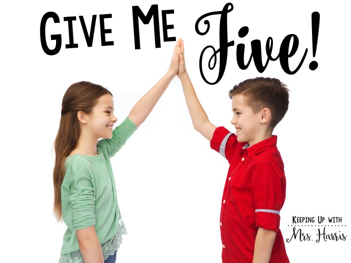Give Me Five - Keeping Up with Mrs  Harris
