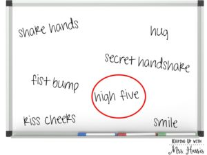 Give Me Five - a back to school get to know you activity.