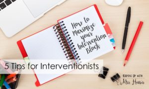 How to Maximize Your Intervention Block - saving time and making your life a lot easier when it comes to meeting student needs during your skills block.