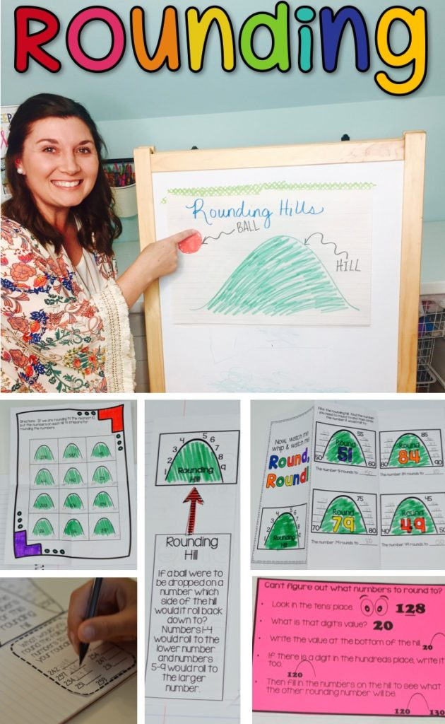 Rounding Hills - Teach rounding in a way that is fun, visual, and effective!  No more reteaching!  Teach rounding the first time the right way!