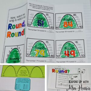 Rounding - Teach rounding in a way that is fun, visual, and effective! No more reteaching! Teach rounding the first time the right way!