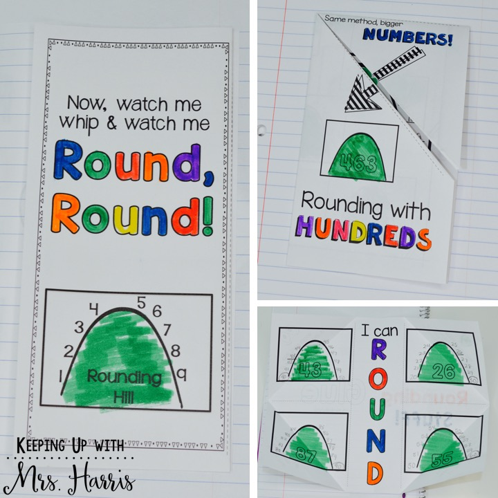 Rounding Hills- Teach rounding in a way that is fun, visual, and effective!  No more reteaching!  Teach rounding the first time the right way!