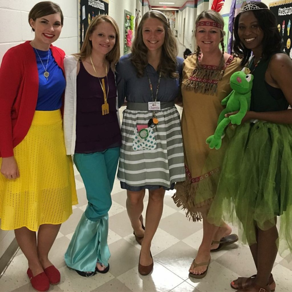 List of Best Ever Grade Level Costumes - Disney Princesses Teacher Costumes