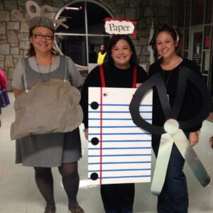 List of Best Ever Grade Level Costumes - Rock, Paper, Scissors Teacher Costumes