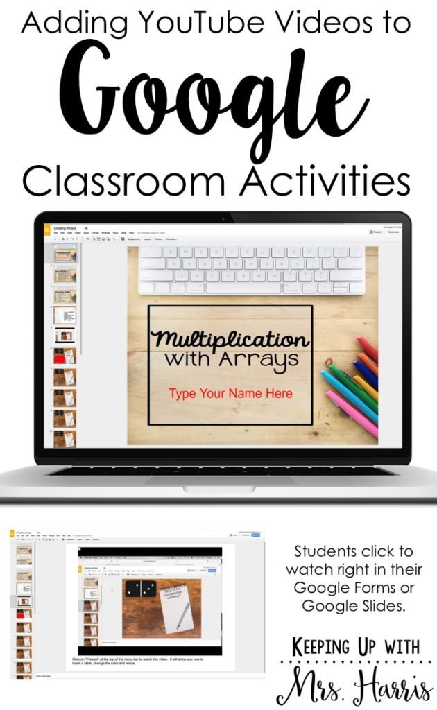 Inserting YouTube with Google Classroom - Learn how to insert YouTube videos directly into your Google Classroom lessons to promote engagement and rigor.