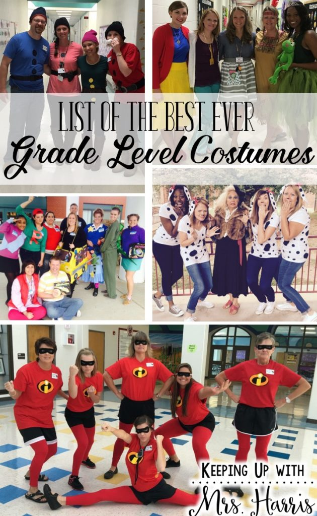 List of Best Ever Grade Level Costumes - Great ideas for Book Character Day Spirit & List of Best Ever Grade Level Costumes - Keeping Up with Mrs. Harris