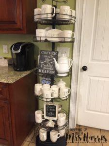 Coffee bar with Rae Dunn coffee cups - Rae Dunn Coffee Bar