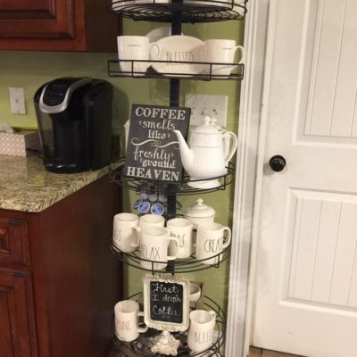 Coffee bar with Rae Dunn coffee cups - Rae Dunn Coffee Bar