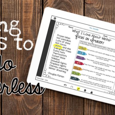 Using iPads to Go Paperless - change your worksheets into digital learning opportunities!