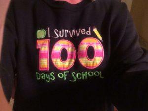 100th Day of School Activities - T-shirt idea