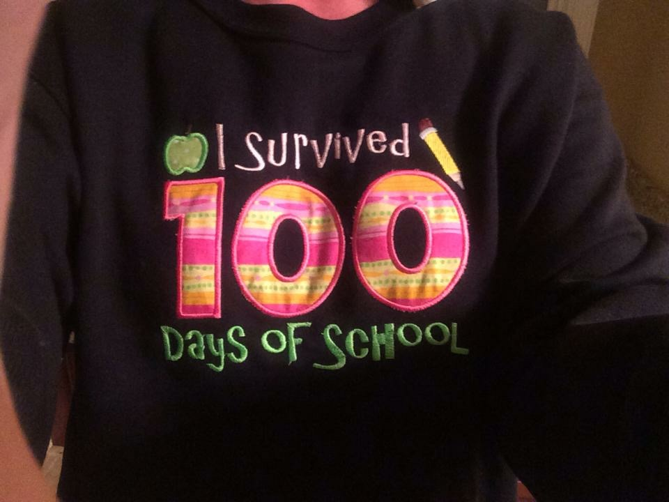 100th Day of School Activities - T-shirt idea