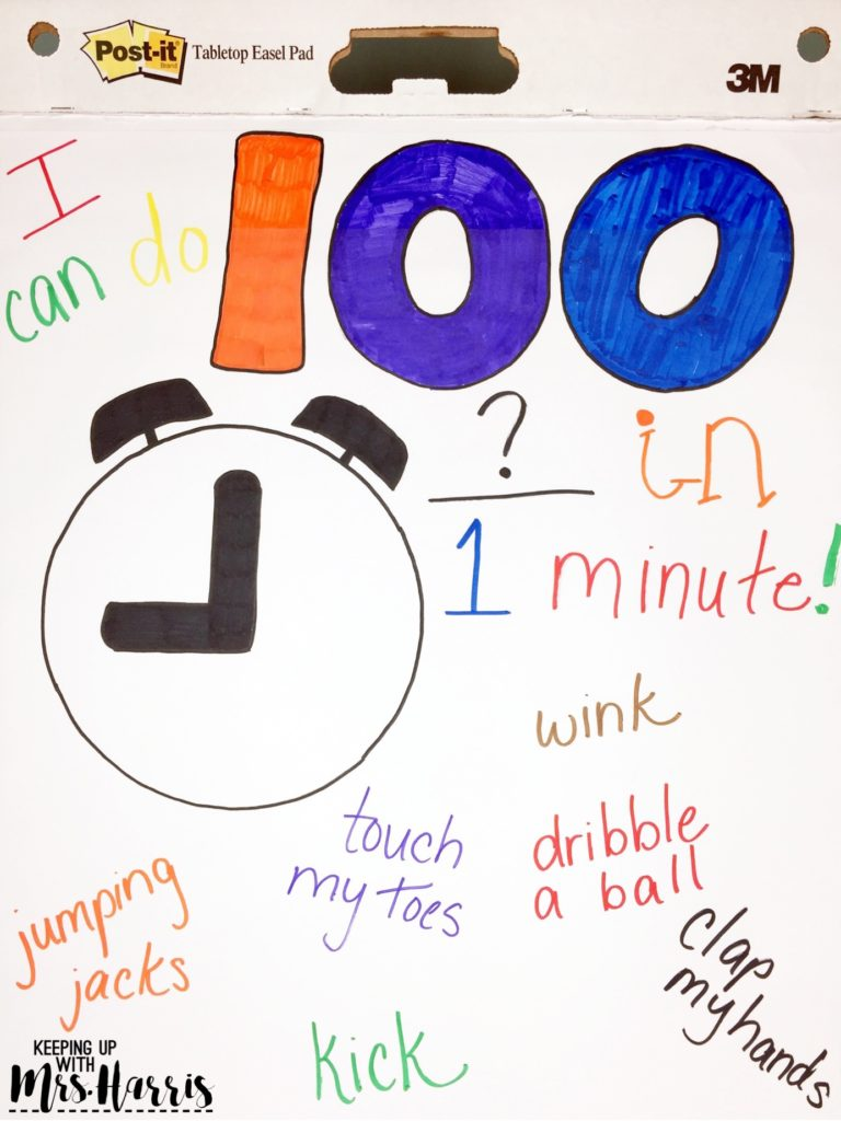 100th Day of School Anchor Chart - Anchor chart ideas for the 100th Day of School
