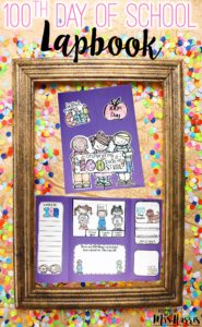 100th Day of School Activities - lapbook for celebrating the 100th Day of School in your classroom
