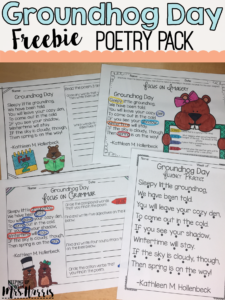 Groundhog Day Activity - Poetry Freebie
