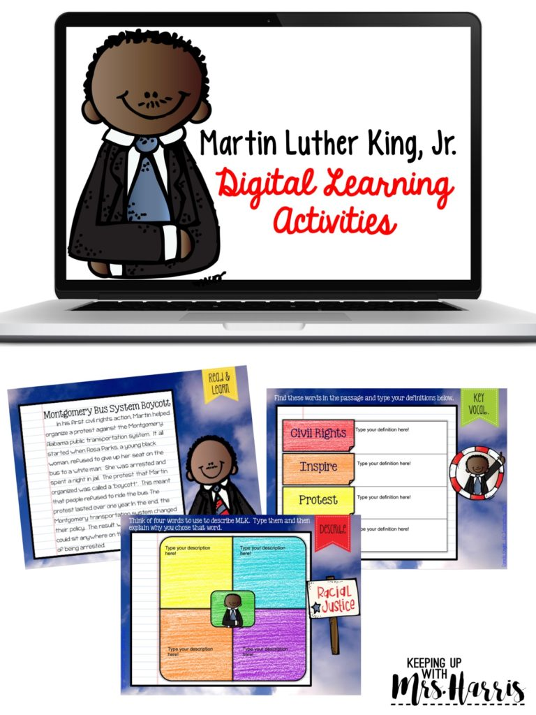Martin Luther King, Jr. Digital Interactive Notebook Activity