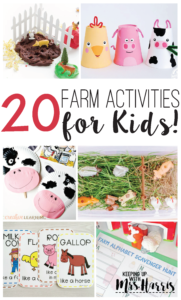 20 Farm Activities for Kids-collection of 20 different farm activities