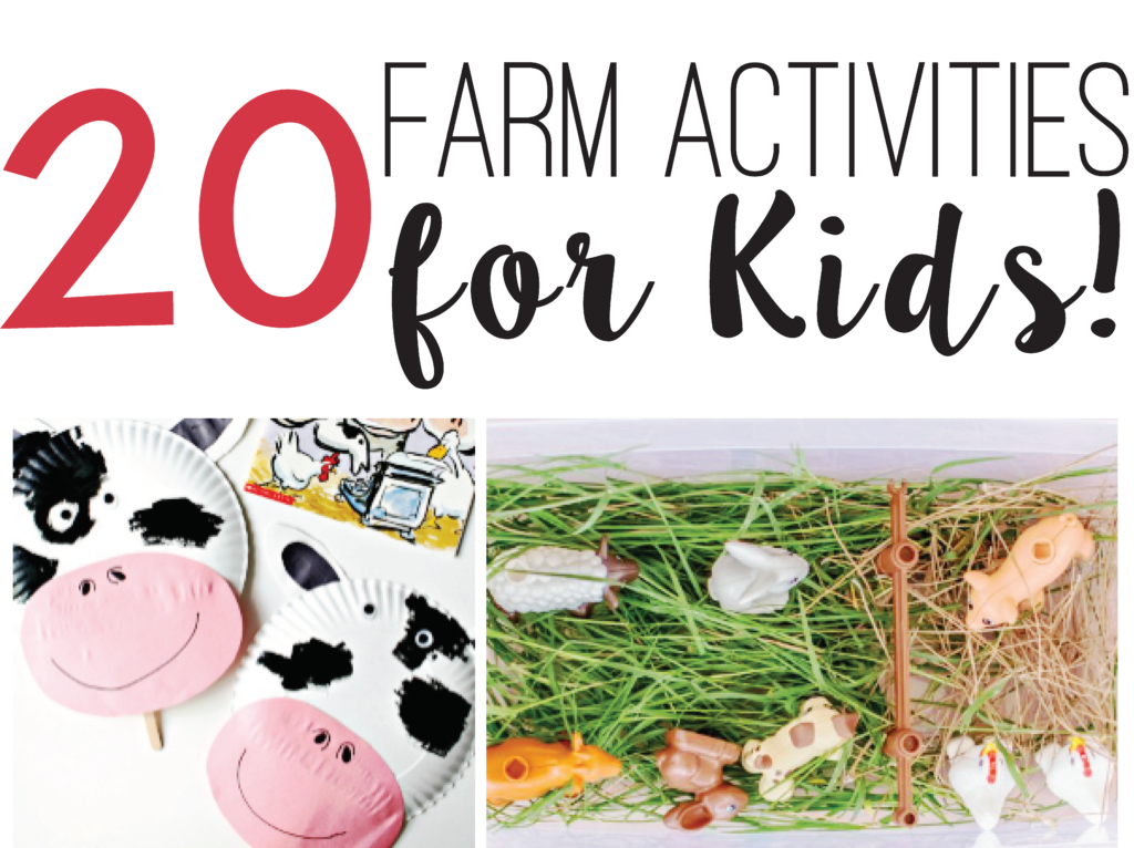 20 Farm Activities for Kids!