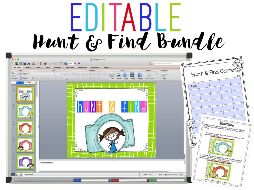 Hunt and Find Games - Editable templates so you can make your own games!