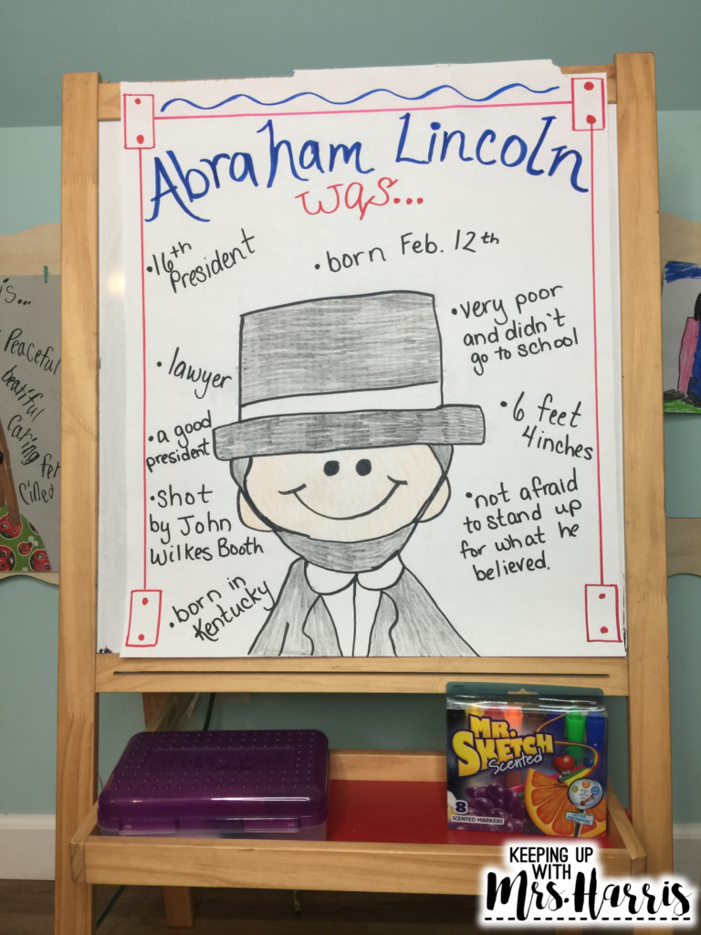Presidents Day Activity - Abraham Lincoln Anchor Chart