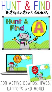 Hunt and Find games for Active Boards, Computers, and iPads