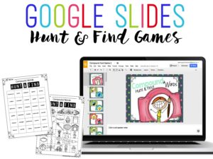 Hunt and Find Games - Can be played using Google Classroom or Google Slides