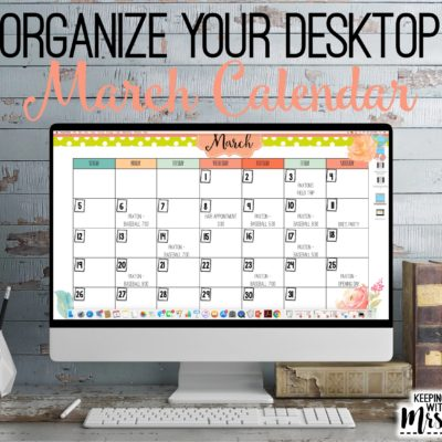 March Desktop Calendar - March Calendar Template