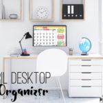 April Desktop Calendar Organizer