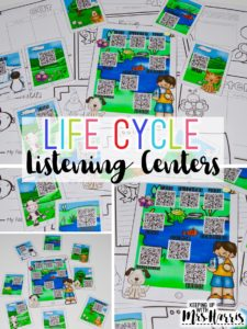 nonfiction books - listening center - listening centers for life cycles - science listening centers