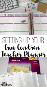 Erin Condren - Erin Condren Teacher Planner - Setting up your Erin condren Teacher Planner