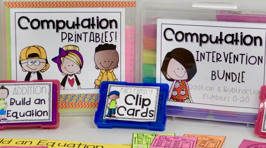 math interventions - addition games - subtraction games - numbers 0-20 addition and subtraction - math intervention activities