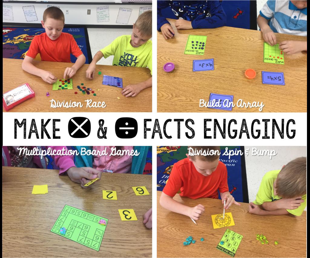 multiplication - multiplication activities - division activities - multiplication and division