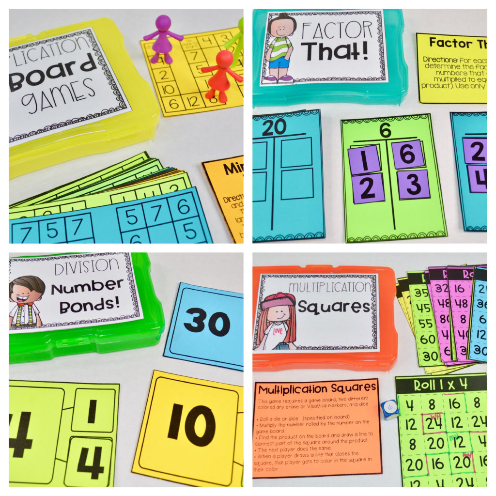 multiplication - multiplication activities - division activities - multiplication and division