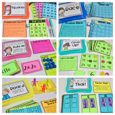 Multiplication and Division Activities for Interventions