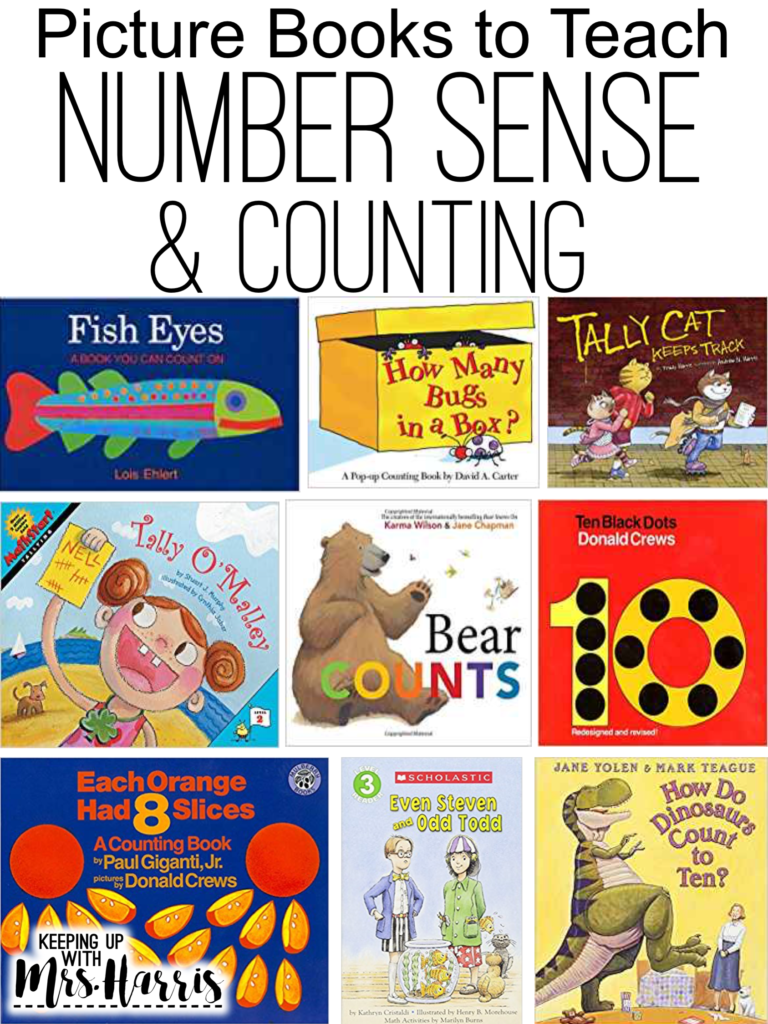 Number Sense picture books for teaching primary students about numbers and counting.