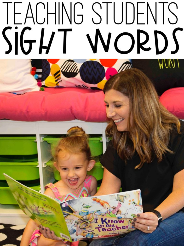 Teaching sight words - Activities and lessons for teaching sight words.