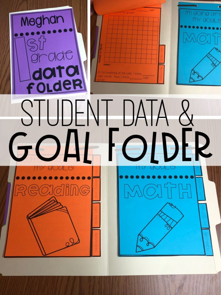 Setting goals  - student goal folder and data organization