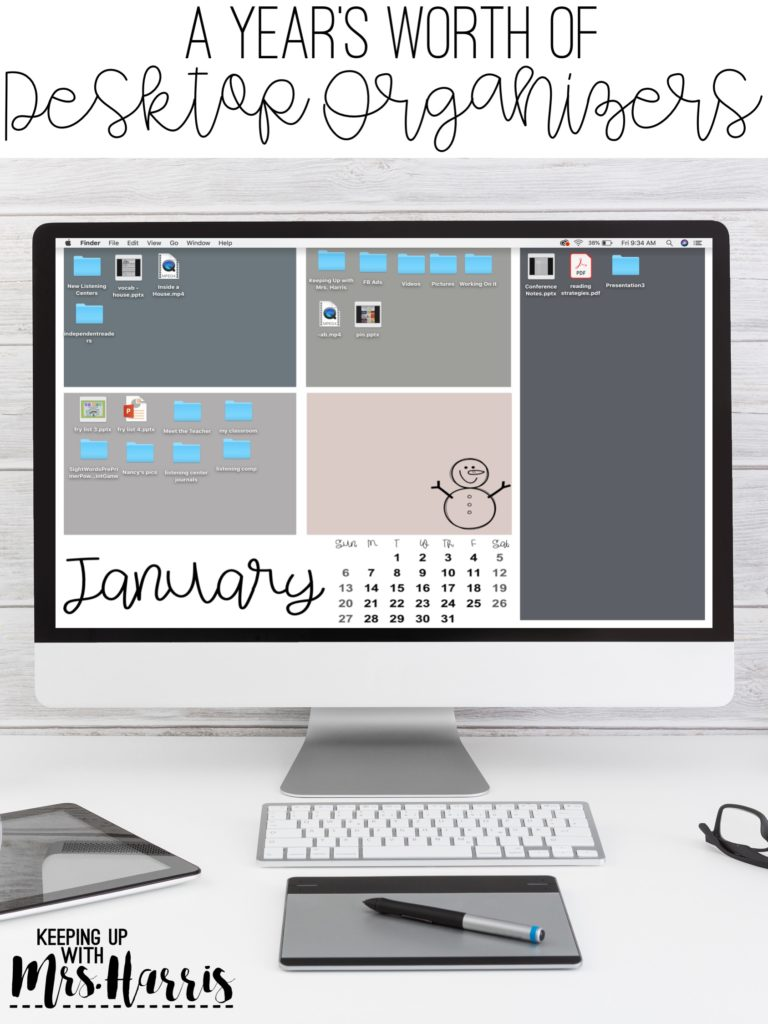 Desktop organizers for 2019.  Start the year off organized with free desktop organizers for 2019.