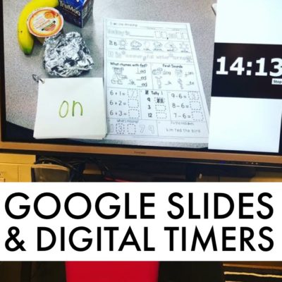 Want to use Google Slides to better manage your classroom? You can insert digital timers onto Google Slides to serve as a visual reminder to students to get busy and stay on task.