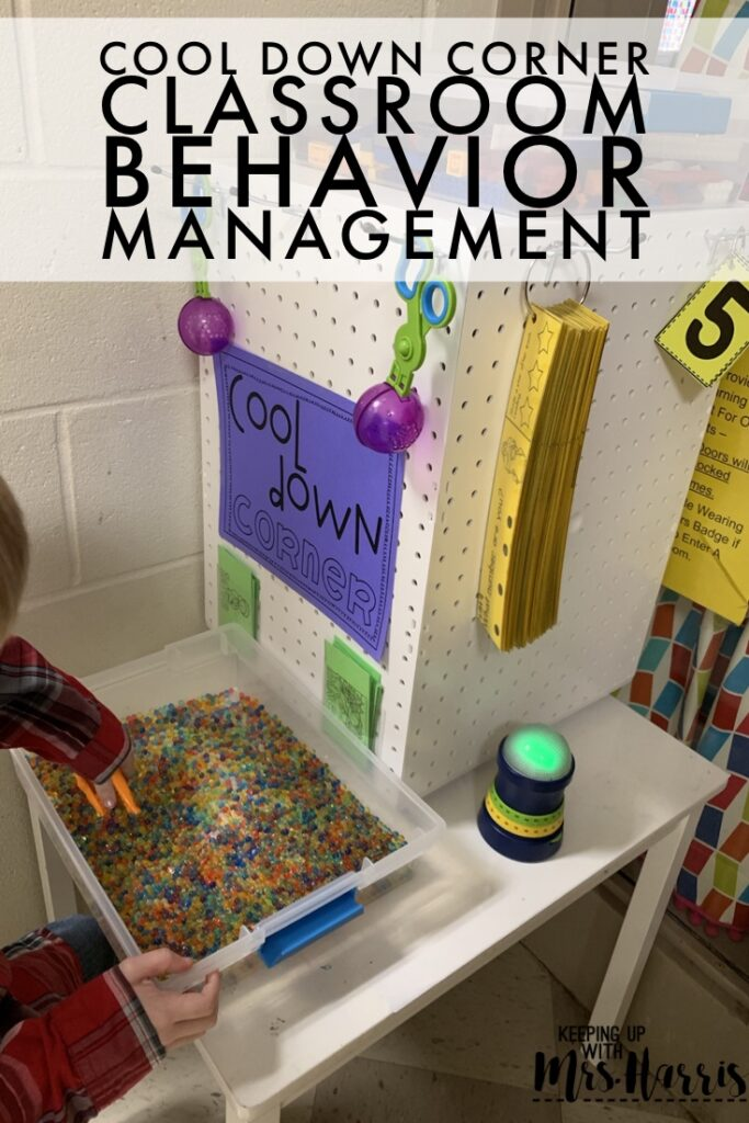 Classroom Cool Down Corner to help with problem behavior before it happens.