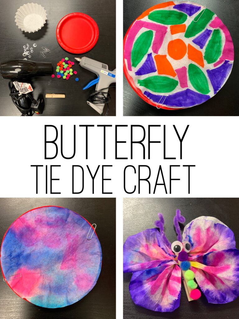 Butterfly craft for kids.  Perfect spring craft for elementary students.